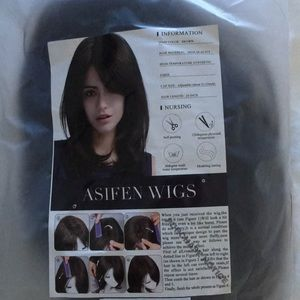 "Charming long straight wigs 20"" dark brown new"